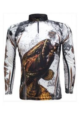 Camiseta De Pesca Uv King Brasil 300 Traíra