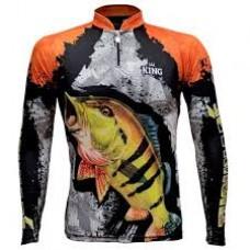 Camiseta De Pesca Uv King Brasil 600