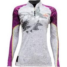 Camiseta De Pesca Uv King Brasil 611 Feminina