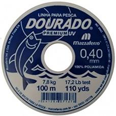 Linha Monofilamento Dourado Premium 0.40mm 100m