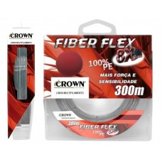 Linha Multifilamento Crown Fiber Flex 8X 0,23mm 35Lbs 300M