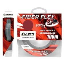 Linha Multifilamento Crown Fiber Flex 8X 100M